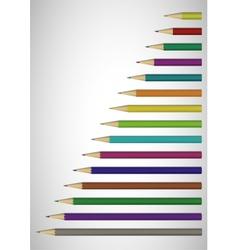 Color pencils poster vector image
