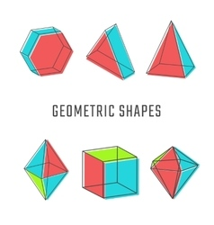 Colored geometric shapes vector image vector image