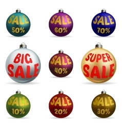 Colorful christmas balls discount vector