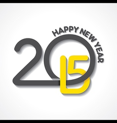 creative happy new year 2015 design stock vector image vector image