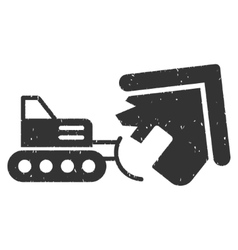 Demolition icon rubber stamp vector