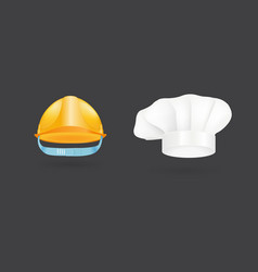 different kind of fashion cook hat modern elegance vector image