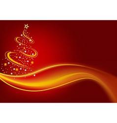 Fiery christmas tree vector