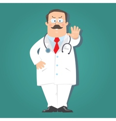 Funny doctor vector
