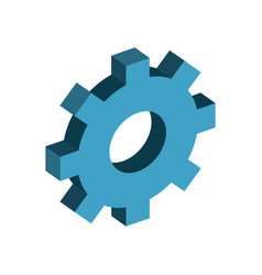 gear industry technology information icon vector image