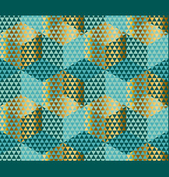 geometry motif in lizard or snake skin style green vector image vector image