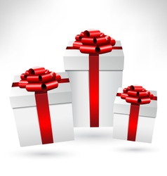 gift boxes with bows on grayscale vector image vector image