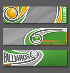 Horizontal banners for billiards vector