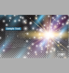 lights effect isolated transparent magic effect vector image vector image