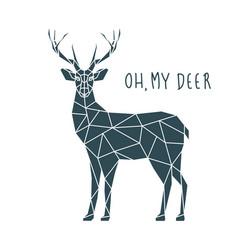 Oh my deer scandinavian deer vector