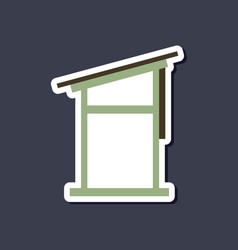 Paper sticker on stylish background desk vector