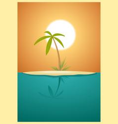 Paradise island vector