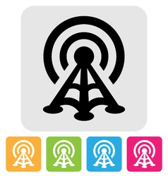 radio tower icon vector image vector image