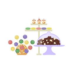 sweet shop banner vector image