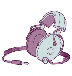 vintage headphones vector image