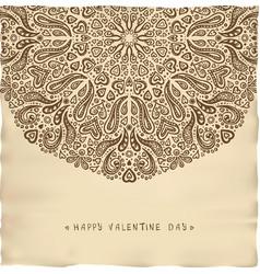 vintage parchment valentine card vector image