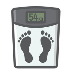 weight scale filled outline icon fitness vector image