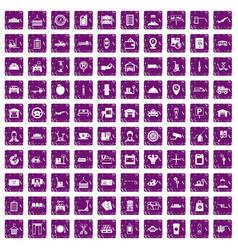 100 loader icons set grunge purple vector