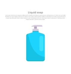 Liquid soap concept banner vector