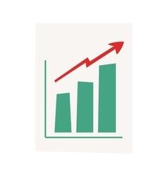 Growing chart graph vector