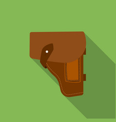 Army handgun holster icon in flat style isolated vector