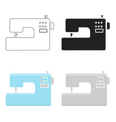 Sewing machine icon of for web vector