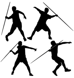 Javelin thrower silhouette vector