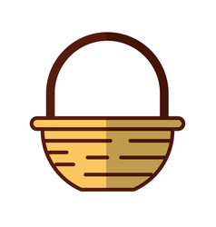 Straw basket with farm product vector