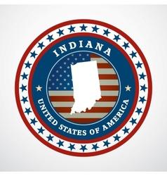 Vintage label Indiana vector image