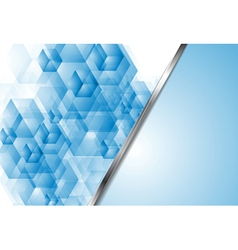 Bright blue tech backdrop vector