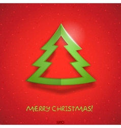 Simple paper christmas tree vector