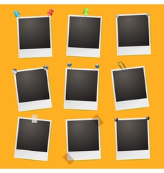 Set of photo frames vector