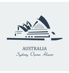 sydney opera house black vector image