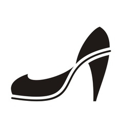 Black high heel vector image