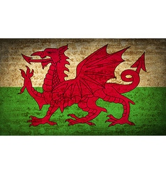 Flags wales with dirty paper texture vector