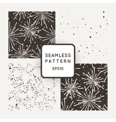 Printfour pattern with fireworks and vector
