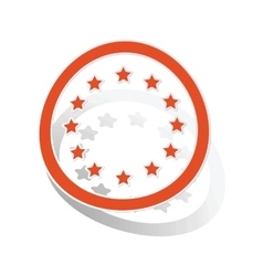 European union sign sticker orange vector