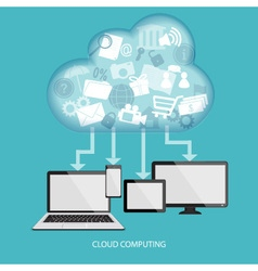 Cloud technology concept vector