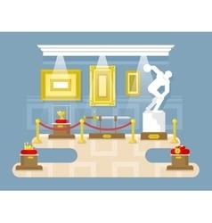 Museum flat design vector