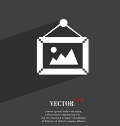 Picture symbol flat modern web design with long vector
