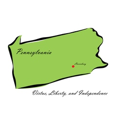 State of pennsylvania vector