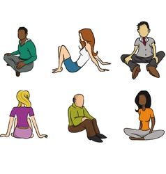 Sitting people vector