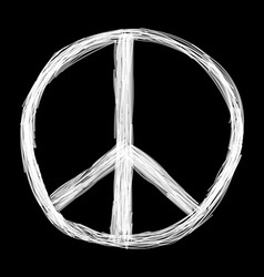 Peace sign hippie symbol of peace vector