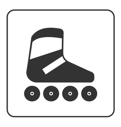 Roller skate icon vector image