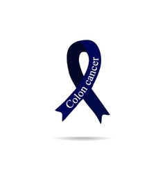 Cancer ribbon colon cancer international day of vector