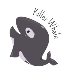 Killer whale isolated Child fun icon vector image