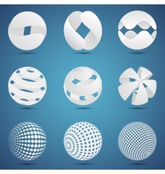 Abstract creative spheres vector