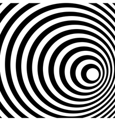 Abstract Ring Spiral Black and White Pattern vector image vector image