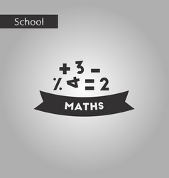 black and white style icon math lesson vector image vector image