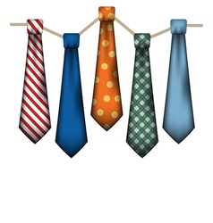 Colorful Mens Ties vector image vector image